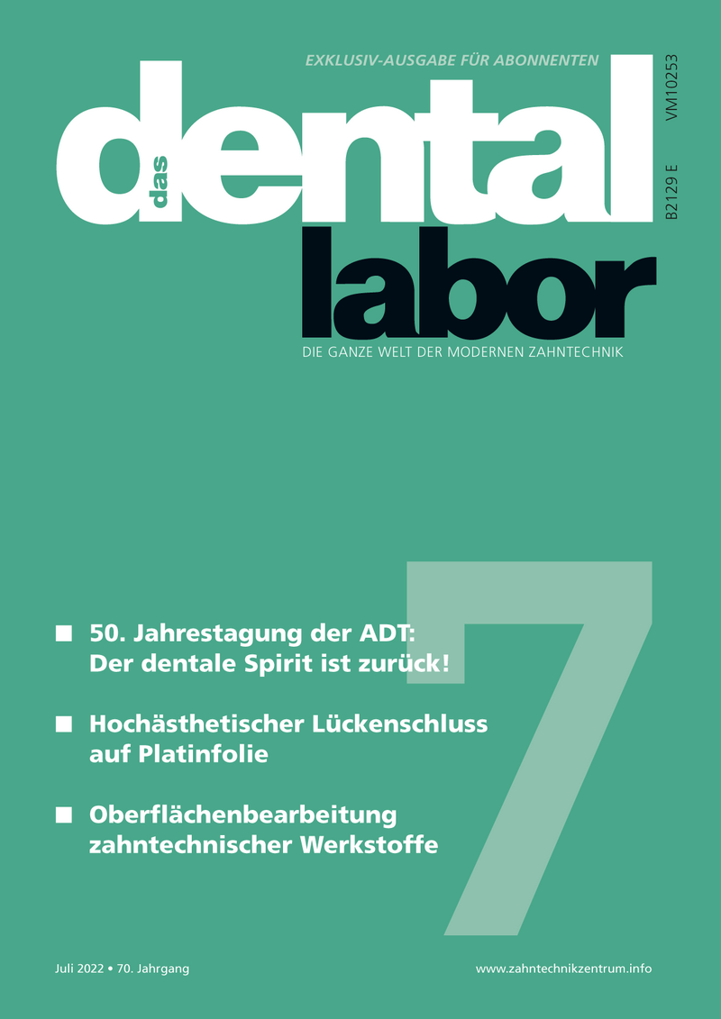 "Subscription to ""das dental labor"" magazin in German language"
